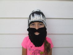 Ready to ship detached beard face warmer BEST GIFT EVER   My 6 year old Grand daughter is modeling for me ! This is a great unique one of a kind
