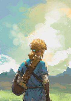 Legend of Zelda digital art degree - Digital Art The Legend Of Zelda, Legend Of Zelda Breath, Breath Of The Wild, Link Botw, Botw Zelda, Master Sword, Link Zelda, Twilight Princess, Video Game Art