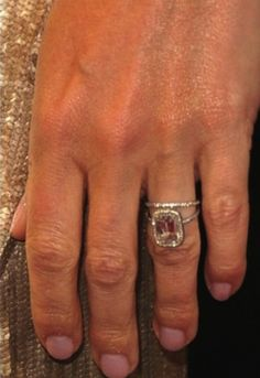See the most beautiful celebrity Asscher cut diamond engagement rings