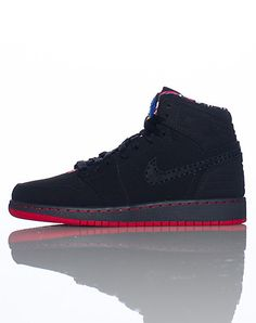 532f8359065 JORDAN Kid s high top sneaker Lace closure Perforation throughout for  breathability Padded tongue with logo Affiliate NIKE swoosh on side  Cushioned sole