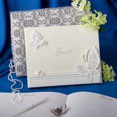 Per il ricevimento di #matrimonio ... un guestbook con farfalle sulla copertina ...