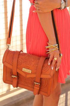 River Island Brown Leather Bag