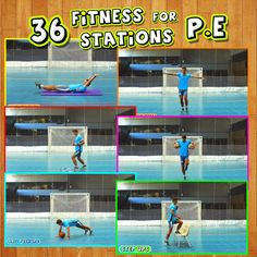 Pe Games Elementary, Elementary Physical Education, Physical Education Activities, Pe Activities, Health And Physical Education, Exercise Activities, Fitness Activities, Fitness Circuit, Circuit Training Workouts