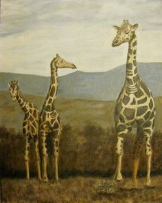 Scott's Creativity for Sanity: Giraffes - three color exercise