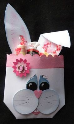 homemade+card+ideas+pinterest | Easter / Stampin' up! Treat Holder Jackie Topa Easter Bunny Envelope