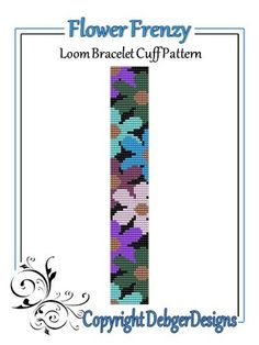 Flower Frenzy - Loom Bracelet Cuff Pattern | DebgerDesigns - Patterns on ArtFire