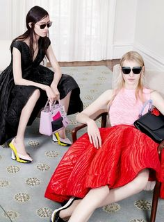 Fei Fei Sun & Julia Nobis for Christian Dior Fall/Winter 2014 Advertising Campaign, ph. by Willy Vanderperre.