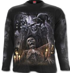Boutique tee shirts Spiral Living dead dark fantasy - Homme