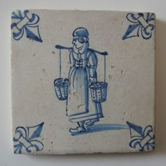 17th-century-DUTCH-DELFT-TILE-034-WOMAN-WITH-A-YOKE-034-c-1625-1675