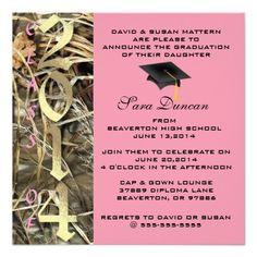Camo Graduation Invitations 206 Camo Graduation Announcements