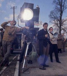 Stanley Kubrick on the set of Lolita (1962)
