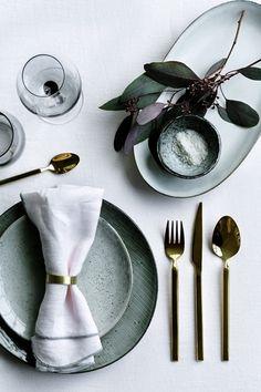 Elegant Table Setting Wedding Table Settings, Place Settings, Setting Table, Organic Ceramics, Broste Copenhagen, Deco Table, Holiday Tables, Decoration Table, Dinner Table