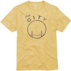 Golden State Warriors Gold '47 Brand Vintage Scrum Tee