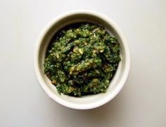 Carrot top and cob nut pesto