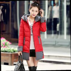 49.21$  Watch now - http://ali0dg.worldwells.pw/go.php?t=32699715568 - Wadded Jacket Nice Pop New Brand Winter Jacket Women Parkas Thickening Fashion Korean Style Slim Padded Long Outwear Coat HJ88 49.21$