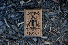 Lumos Nox and Deathly Hallows Light Switch Cover Harry Potter