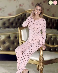 Şahinler Zakkum Puanlı Pijama Dresses With Sleeves, Long Sleeve, Pants, Fashion, Trouser Pants, Moda, Sleeve Dresses, Long Dress Patterns, Fashion Styles