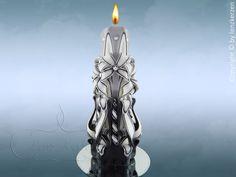 Einzigartige von Hand geschnitzte  Kerzen.Hochzeitskerze.