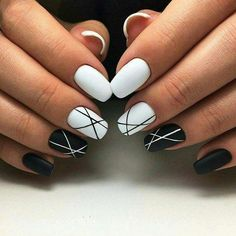 61 creative colorful stylish summer nails design ideas for 2018 - nail art . - 61 creative colorful stylish summer nails design ideas for 2018 – nail art – occasional nail de - White Acrylic Nails, Summer Acrylic Nails, Best Acrylic Nails, Acrylic Nail Designs, Summer Nails, Nail Art Designs, Nails Design, Black Shellac Nails, Black And White Nail Designs