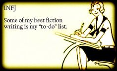 #Fiction = my to-do list = #scifi  #infj