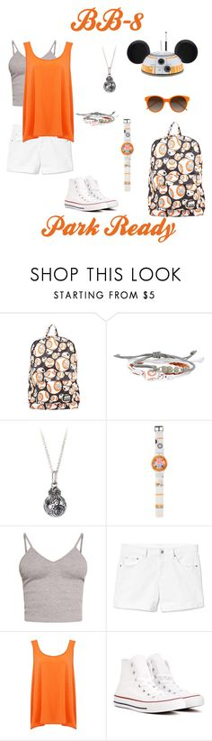 """Park Ready BB-8 Disney Bound"" by disney-nerd-designs ❤ liked on Polyvore featuring Disney, BasicGrey, Gap, American Vintage, Converse, EyeBuyDirect.com, disney, disneybound and starwars"