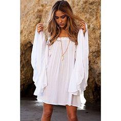 VESTIDO de PLAYA ¡Apúntate a los vestidos de playa! Es importante que tenga un corte suelto y que la tela sea muy ligera para no quedarnos pegadas a él. Disponible ya en : kmepongo.com