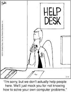 Mystery Fanfare: Cartoon of the Day: Help Desk