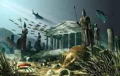 The Lost Island of Atlantis - One of the oldest mysteries in the world, the legend of Atlantis has mystified humanity since ancient times. According to the Greek philosopher Plato, Atlantis was a large island somewhere west of the Pillars of Hercules (the Rock of Gibraltar) and the home of an incredibly advanced civilization known as the Atlanteans. Plato described Atlantis as a place of immense beauty with a palace compound in the center of three ringed canals. (...)