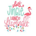 Silhouette Design Store: Let's Jingle And Flamingle Tropical Christmas, Beach Christmas, Coastal Christmas, Pink Christmas, Christmas Svg, Christmas Wishes, Christmas Shirts, All Things Christmas, Christmas Holidays