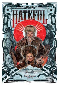 The Hateful Eight (2015) ~ Alternative Movie Poster by Orlando Arocena #amusementphile
