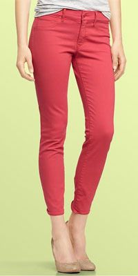 We love the bold color of these jeans