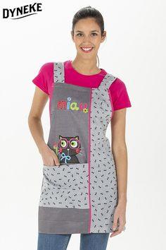 Estola , casullas de profesora. Estola con bordado. Estola con gatito.Batas y estolas de maestra. Bandana, Moda Emo, Couture, Apron, Patches, Sewing, Fashion, Man Fashion, Pinafore Apron