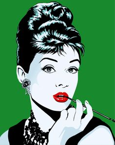 Audrey Hepburn's vectorial illustration, based on a famous painting.   Eraluu