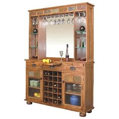 Made of oak solids and veneers with real slate accents, the Sedona back bar works as a server and walk up bar, too. Lots of storage for wine, stemware and even a storage area. Base only available, too.