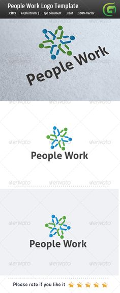 People Work #GraphicRiver
