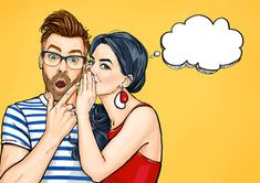 Amazed man and woman talking about something. - Buy this stock illustration and explore similar illustrations at Adobe Stock Pop Art Wallpaper, Graphic Wallpaper, Foto Pop Art, Illustrations, Illustration Art, Desenho Pop Art, Pop Art Women, Pop Art Girl, Pop Characters