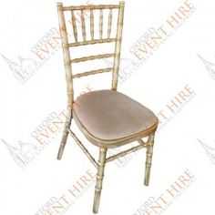 Goldwash Chivari Chair with ivory seat pad Chiavari Chairs, Dining Chairs, Seat Pads, Valentines, Events, Wedding, Furniture, Home Decor, Valentine's Day Diy