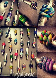 Fimo blend dread beads. Premades & customs by RoyalDreadcreations