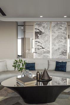 摩登-新东方 - 原创作品 - 站酷(ZCOOL) Living Room Interior, Home Living Room, Living Room Designs, Classical Interior Design, Chinese Interior, Sofa Furniture, Apartment Design, Room Colors, Interior Architecture