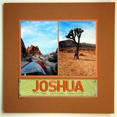 Joshua Tree Nat'l Park from Campfire Chic #scrapbook #park