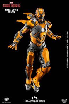Iron Man 3 DFS052 Iron Man Mark XXVIII Jack 1/9 Scale Figure Iron Man Wallpaper, Marvel Wallpaper, All Iron Man Suits, Marvel Concept Art, Iron Man Poster, Iron Man Art, Best Iron, Futuristic Armour, Man Thing Marvel
