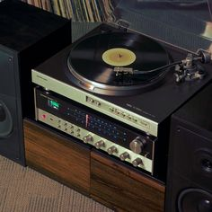"""vintage-audio: """" A set for a person with more than average interest in music. • NEC AUP-7300e Fully automatic Turntable • Harman/Kardon 730 twin powered Stereo Receiver Status: Sold """""""