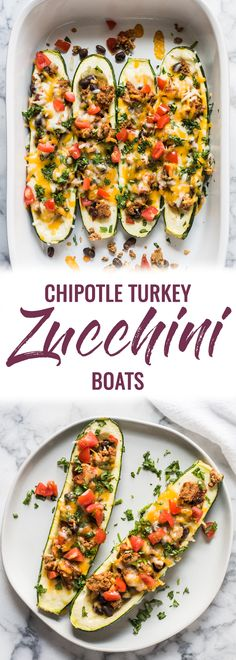 Low Carb Meals Chipotle Turkey Zucchini Boats are stuffed with chipotle seasoned ground turkey, black beans, cheese and all your favorite toppings. It's the perfect healthy, gluten free and low carb meal for any night of the week! Ground Turkey And Zucchini Recipe, Healthy Ground Turkey, Ground Turkey Recipes, Recipe Zucchini, Healthy Eating Quotes, Healthy Eating Habits, Healthy Eating Recipes, Clean Eating Recipes, Healthy Food