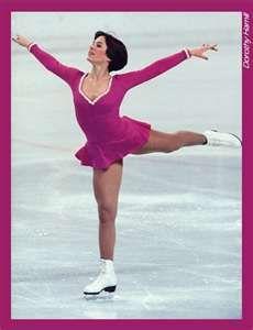 Dorothy Hamill during the 1976 Olympics.