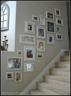 Photo walls are a big trend in interiors, there are lots of ways you can create your own. Here are 25 of the best from around the web to get you started! House interior 25 Photo Walls That Every Home Needs Boho Living Room, Living Room Decor, Living Room Wall Ideas, Picture Wall Living Room, Stairs In Living Room, Cheap Home Decor, Diy Home Decor, Home Wall Decor, Sweet Home