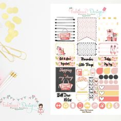 New release- Glam Girl weekly layout ✨