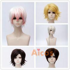 Men Short Hair Cosplay Wig Korea Game Mystic Messenger Yoosung Harajuku Yellow #Aicos #Layered