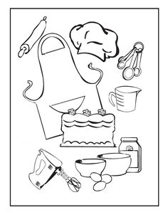 Cooking and Baking Coloring Pages – Birthday Printable