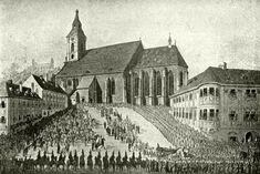 régi kép-pozsonyi dóm Cathedral, Marvel, Building, Painting, Buildings, Painting Art, Cathedrals, Paintings, Painted Canvas