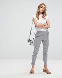 Pull&Bear - Pantalon fuselé à rayures
